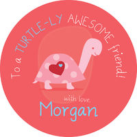Turtle Love Valentines Stickers