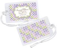 Lilac Florals Luggage Tag
