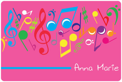 Bright Notes Fuchsia Postcard