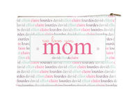Mom Family Name Small Accessory Flat Pouch