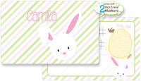 Bunny Face Girl Dry Erase Placemat