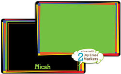 Bold Rectangles Dry Erase Placemat