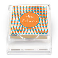 Aqua Orange Sticky Note Holder