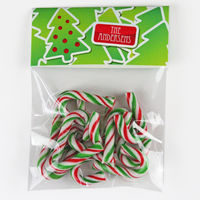 Holiday Tree Tag Candy Bag Toppers