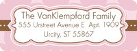 Chocolate Pink Return Address Label