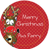 Tangled Reindeer Gift Stickers