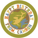 Camo Boy Round Gift Stickers