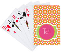 Fuchsia Orange Playing Cards