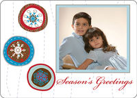 Brown Ornaments Foldover Card
