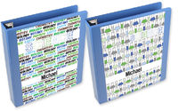 Colorful Beakers Boy Binder Insert Set
