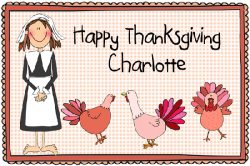 Thanksgiving Girl Placemat CPM