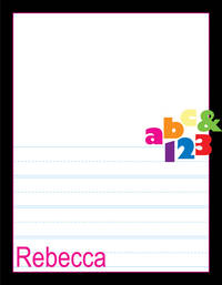 ABC123 Kindergarten Drawing Pad