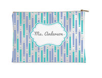 Lilac And Turquoise Small Accessory Flat Pouch