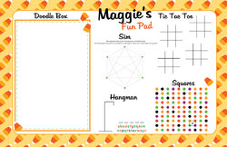 Candy Corn Paper Placemats