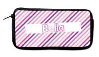 Purple Pink Diagonals Neoprene Pencil Case
