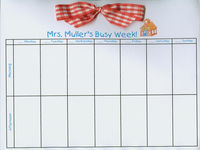 Teacher School House Bow Calendar
