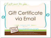 A Gift Card Certificate VIA EMAIL