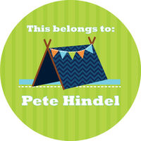 Blue Tent Gift Stickers