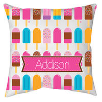 Bright Popsicles Autograph Camp Pillow