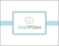 Baby Boy Ribbon Foldover Card SSNC-08