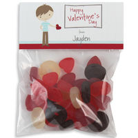 Be Mine Boy Valentines Candy Bag Toppers