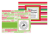 Holiday Foldover Note Cards for Custom Stamps