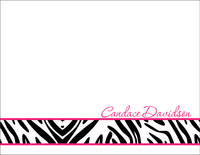 Hot Pink Zebra Foldover Card