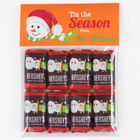 Santa Snowman Candy Bag Toppers