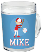 Baseball Boy Clear Acrylic Mug