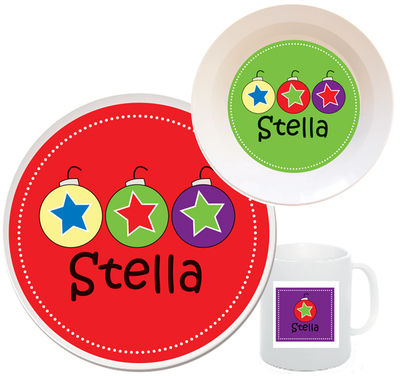 Christmas Ornaments Melamine Set