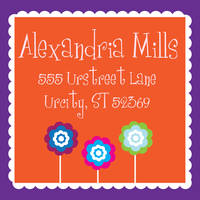 Cutesy Flowers Return Address Label