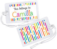 Color Pencils Luggage Tag