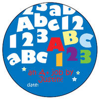 ABC123 Boy Vinyl Sticker