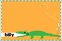 Alligator Chomp Postcard