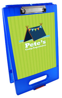 Blue Tent Clipboard Storage Case
