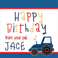 Blue Tractor Gift Stickers