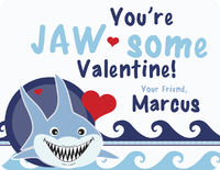 Shark Bite Valentines Card