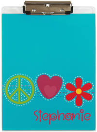 Bright Stitches Acrylic Clipboard