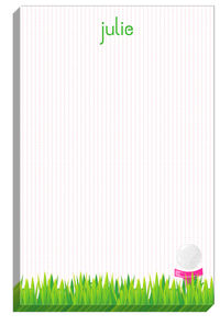 Pink Golf Tee Notepad