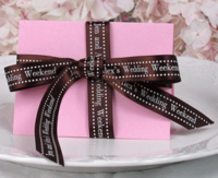 "5/8"" Satin Polka Dot Personalized Ribbons"
