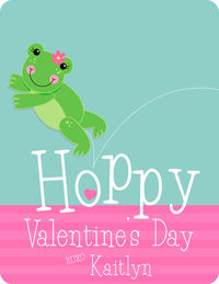 Froggy Valentine's Card