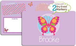 Pink Butterfly Dry Erase Placemat