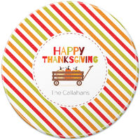 Harvest Wagon Round Glass Cutting Board