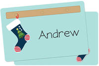 Stockings Navy Placemat
