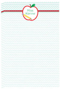 Apple Half Teacher Notepad