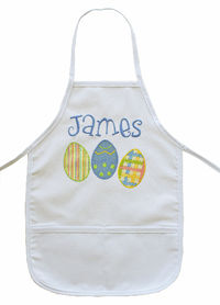 Easter Eggs Embroidered and Applique Apron