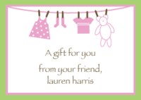 Pink Clothes Line Calling Card EN-027-7004