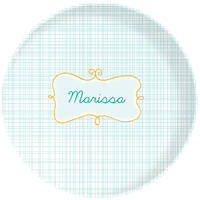 Name Frame Blue Plate