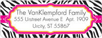 Hot Zebra Return Address Label