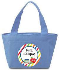 Colorful Bookworm Insulated Tote